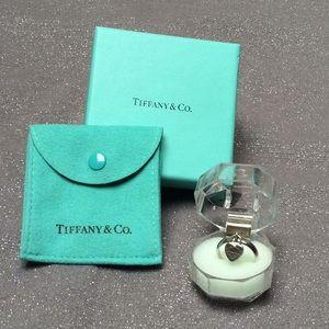 *FIRM* TIFFANY & CO. .925 PADLOCK HEART RING 6.5-7